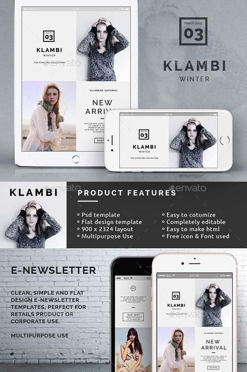 GraphicRiver Klambi Email Newsletter III