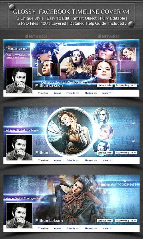 GraphicRiver Glossy Facebook Timeline Cover V