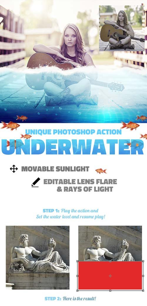 GraphicRiver Underwater Photoshop Action