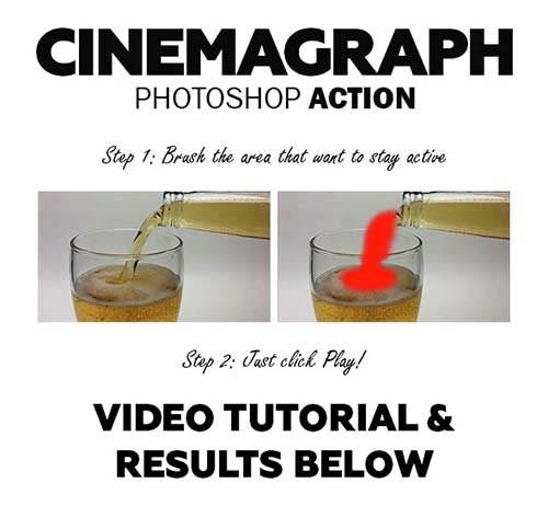 GraphicRiver Cinemagraph Photoshop Action
