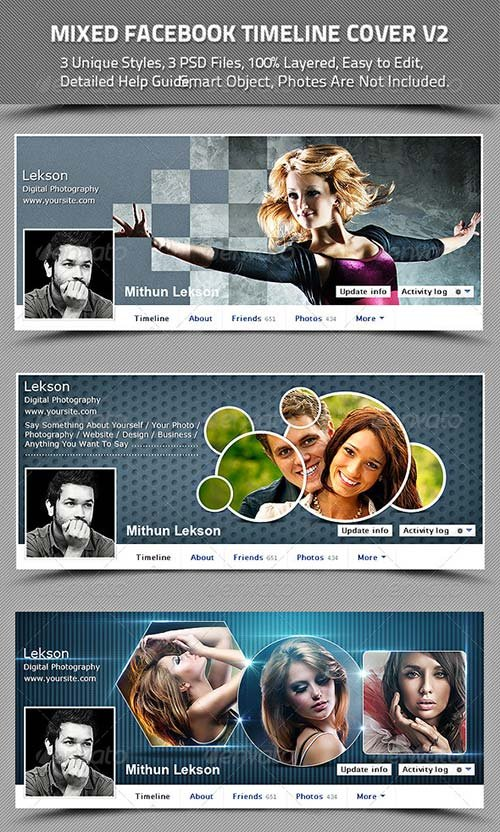 GraphicRiver Mixed Facebook Timeline Cover V2