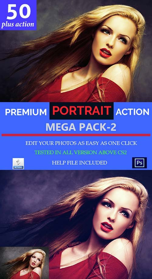 GraphicRiver Portrait Mega Action Set-2