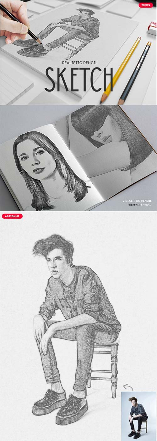 GraphicRiver Realistic Pencil Sketch - Action