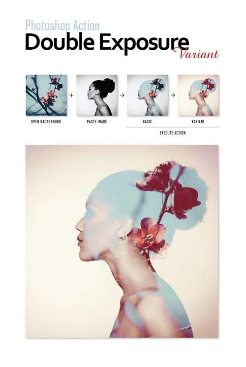 GraphicRiver Photoshop Actions Pack - Double Exposure