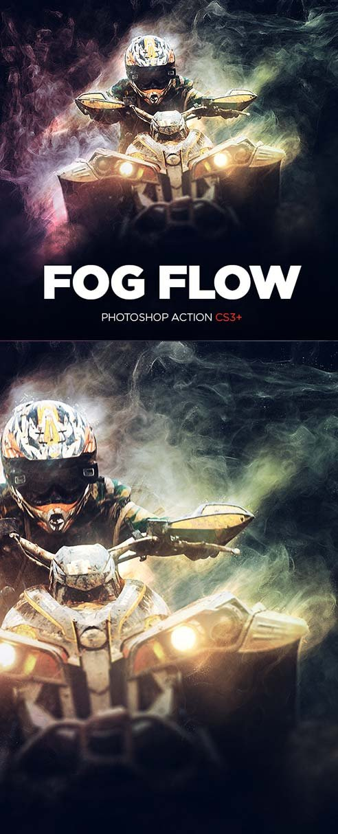 GraphicRiver Fog Flow Photoshop Action