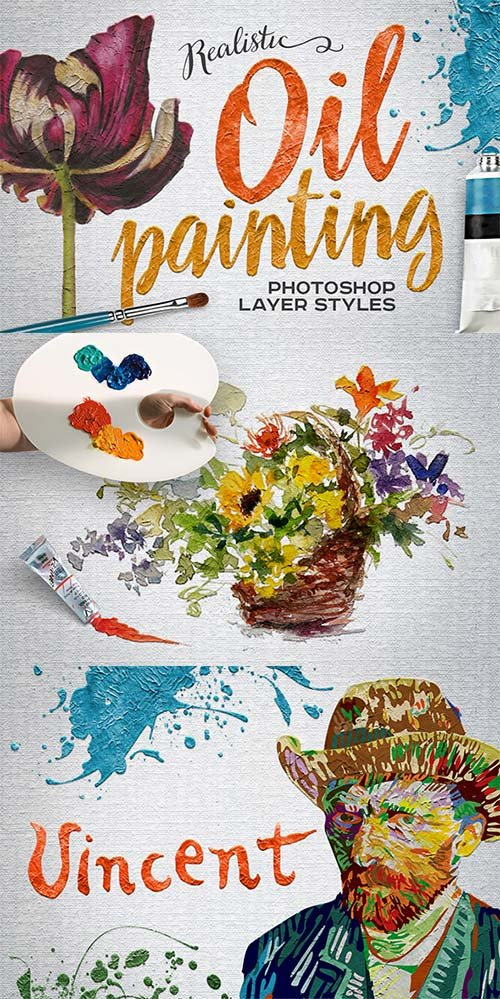 GraphicRiver Oil Painting Photoshop Layer Styles