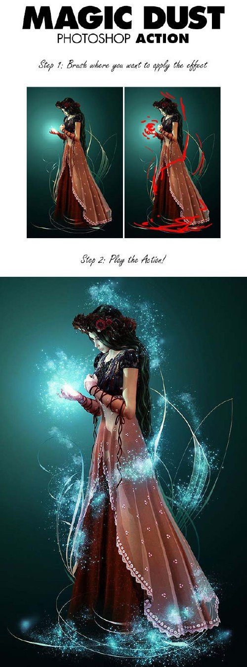 GraphicRiver Magic Dust Photoshop Action