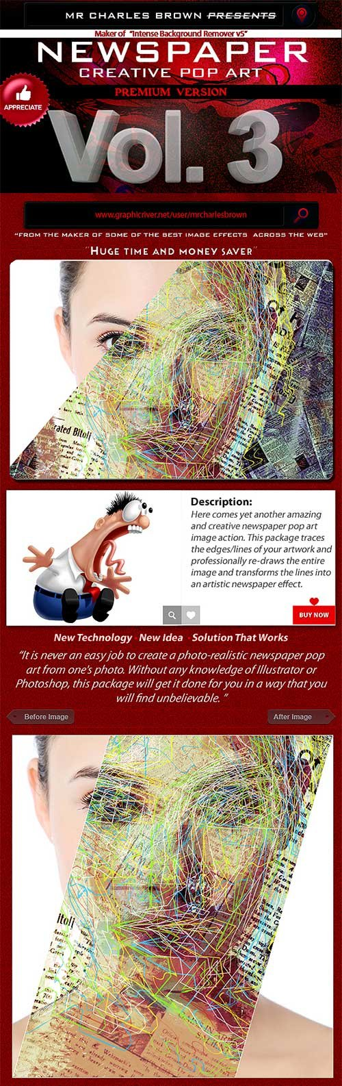 GraphicRiver Creative Newspaper Pop Art 3