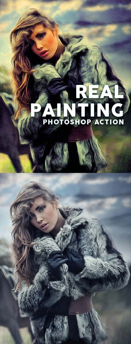GraphicRiver Real Painting Photoshop Action