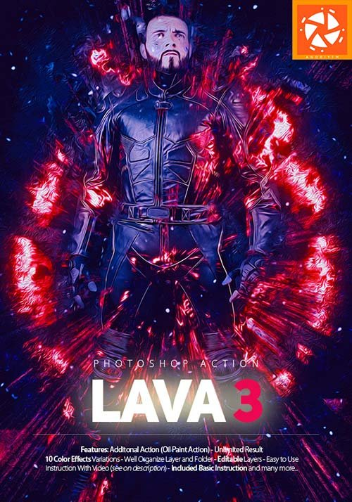 GraphicRiver Lava 3 Photoshop Action