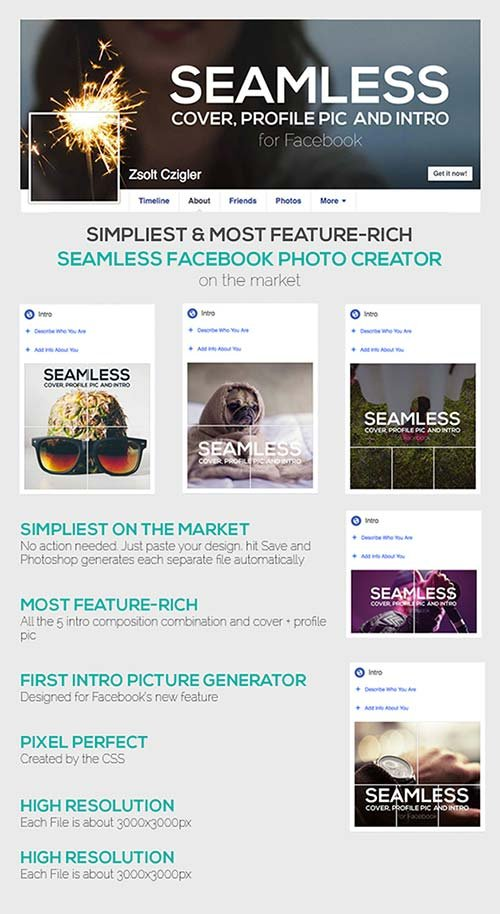 GraphicRiver Seamless Facebook Photo Creator