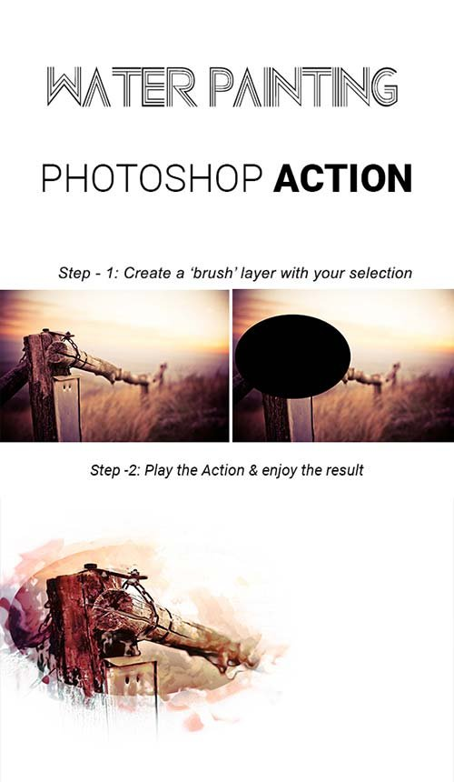 GraphicRiver Water Painting Photoshop Action
