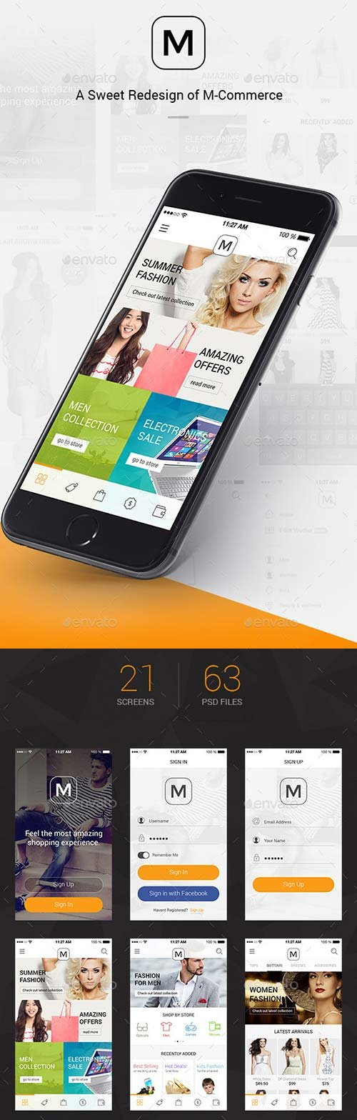 GraphicRiver M - A Sweet Redesign Of M-Commerce