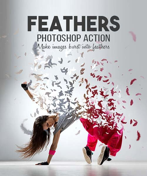 GraphicRiver Feathers Photoshop Action