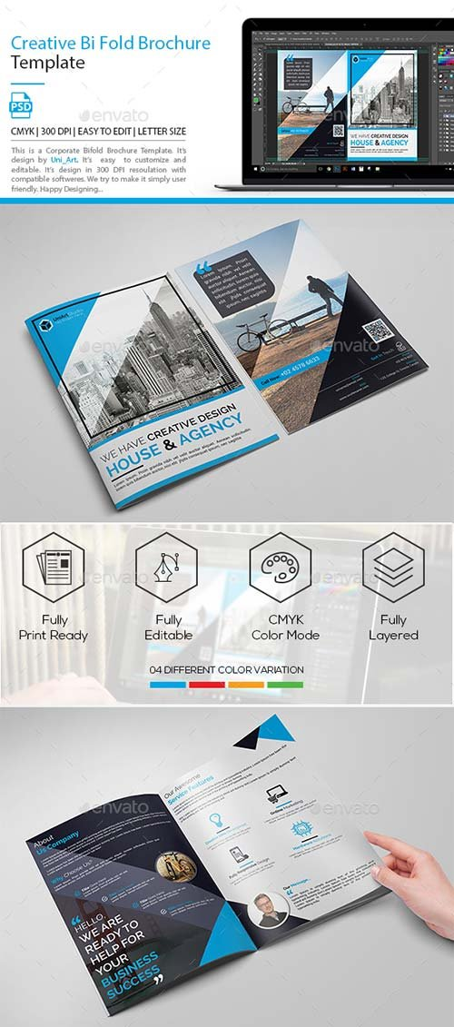 GraphicRiver Creative Bi Fold Brochure