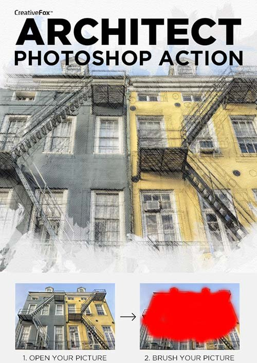GraphicRiver Architect Photoshop Action - Sketch Effect Creator