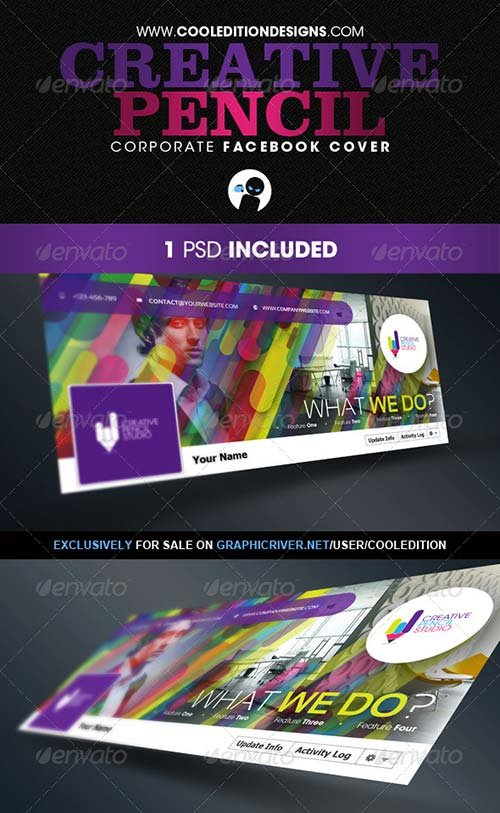 GraphicRiver Creative Pencil - Corporate Facebook Cover