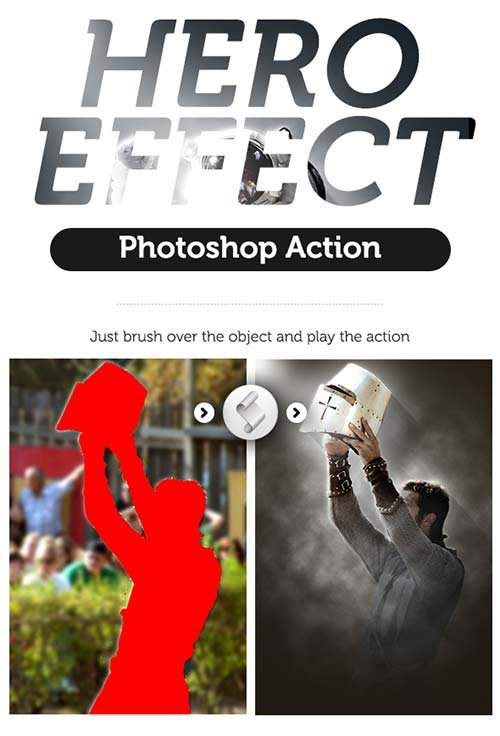 GraphicRiver Hero Effect Photoshop Action