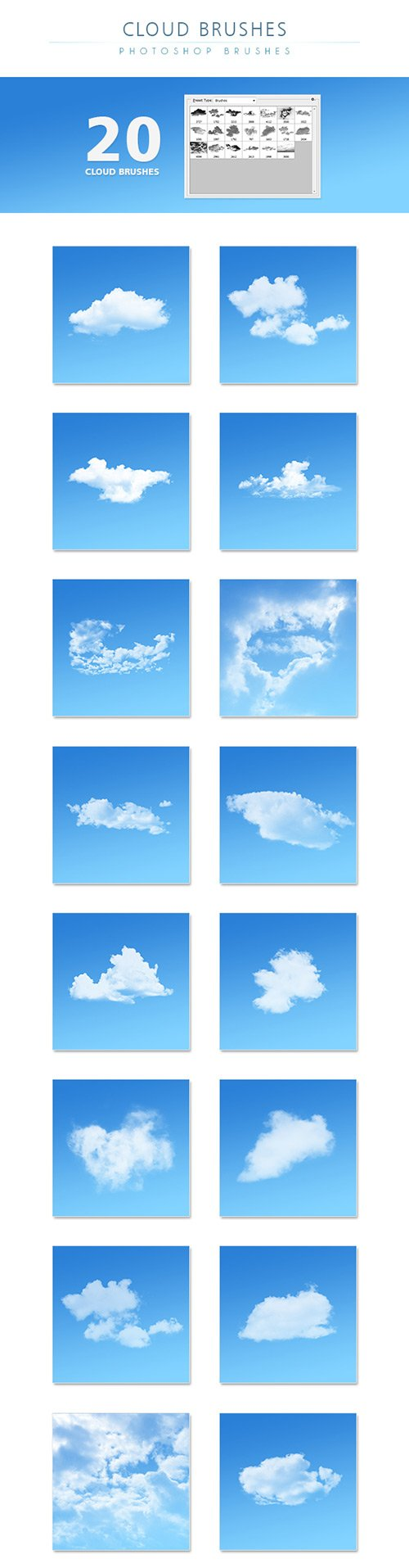 GraphicRiver Cloud Brushes