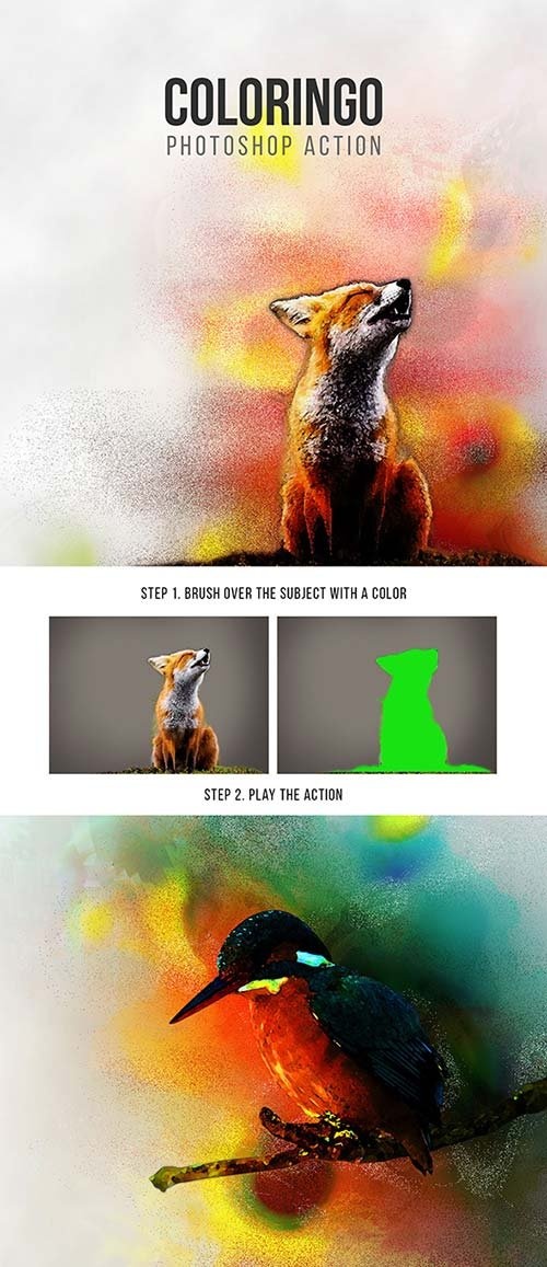 GraphicRiver Coloringo Photoshop Action
