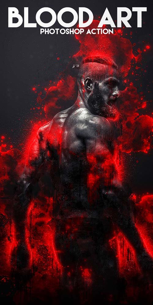 GraphicRiver Blood Art Photoshop Action