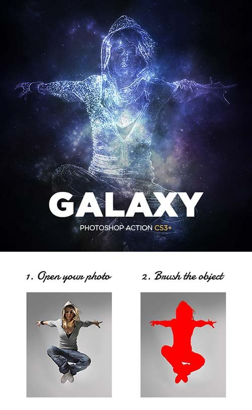 GraphicRiver Galaxy Photoshop Action CS3+