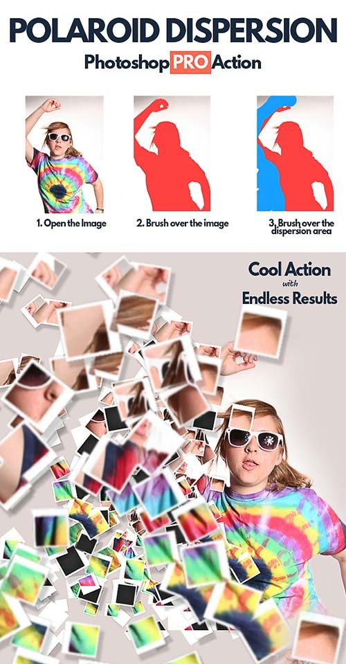 GraphicRiver Polaroid Dispersion Photoshop Action