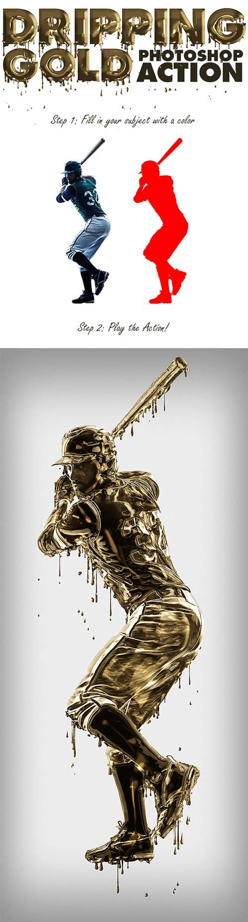 GraphicRiver Dripping Gold Photoshop Action