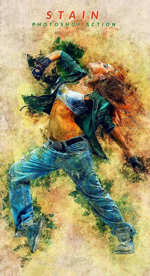 GraphicRiver Stain Photoshop Action