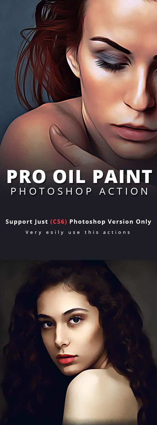GraphicRiver Pro Oil Paint Photoshop Action
