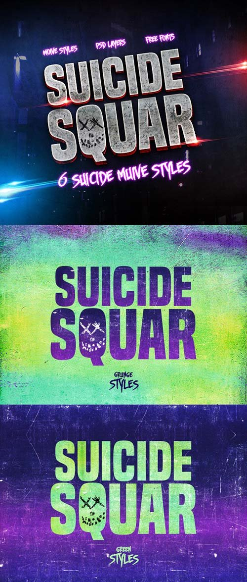GraphicRiver 6 Suicide Muive Styles