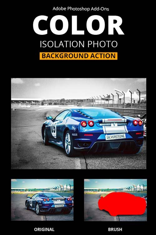 GraphicRiver Color Isolation Background Photo Action