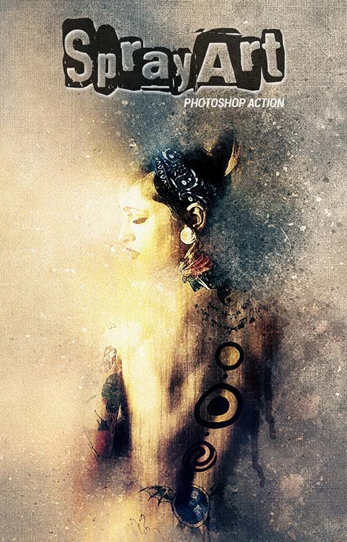 GraphicRiver SprayArt - Photoshop Action