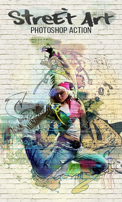 GraphicRiver Street Art Photoshop Action 17440734