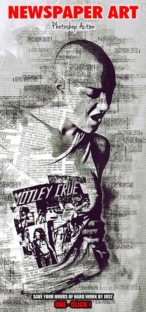 GraphicRiver Newspaper Art Photoshop Action ( With Painting Effect )