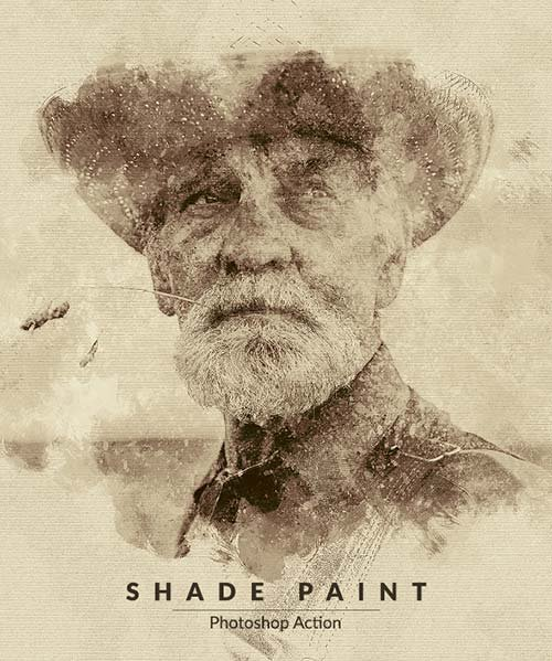 GraphicRiver Shade Paint Photoshop Action