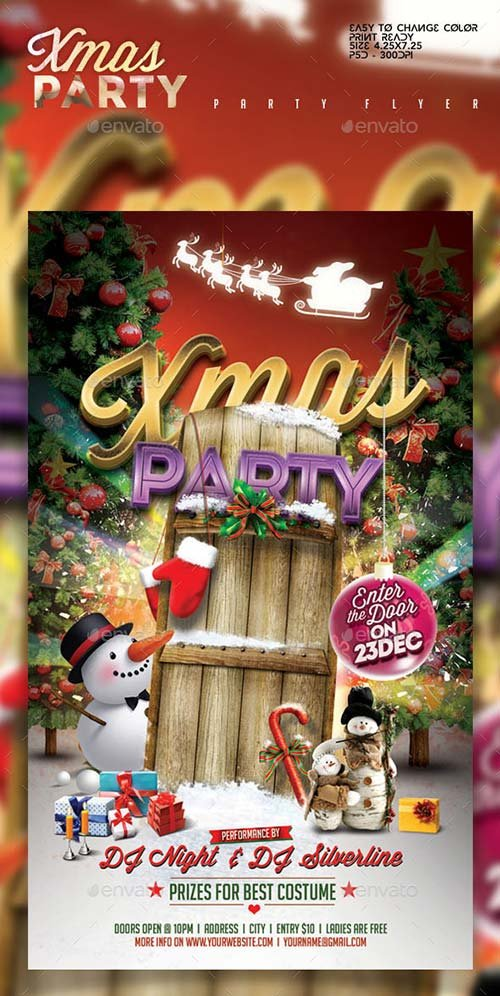 GraphicRiver Xmas Party Flyer Template 9382276