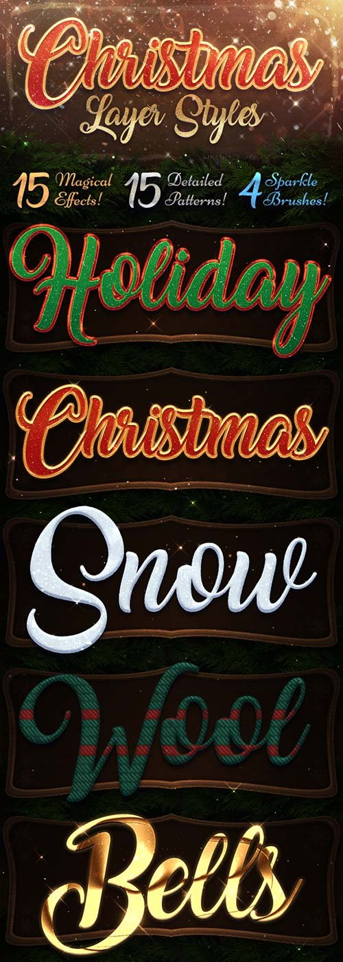 GraphicRiver Christmas Layer Styles