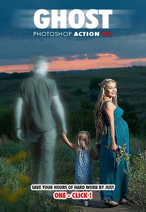 GraphicRiver Ghost Photoshop Action V.1
