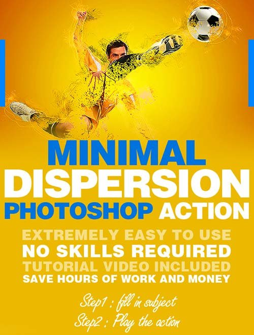 GraphicRiver Minimal Dispersion Photoshop Action