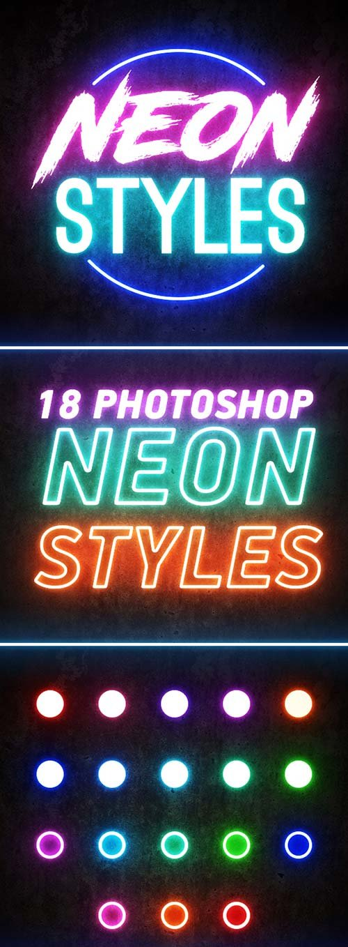 GraphicRiver Photoshop Neon Styles
