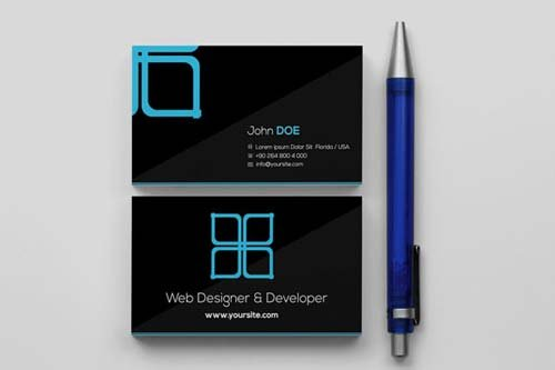 CreativeMarket Window Black Business Card