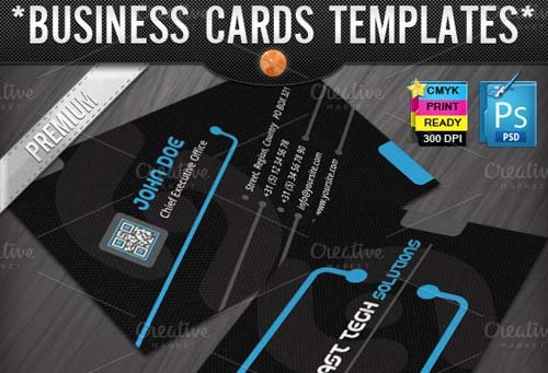 CreativeMarket Technology Business Cards Templates