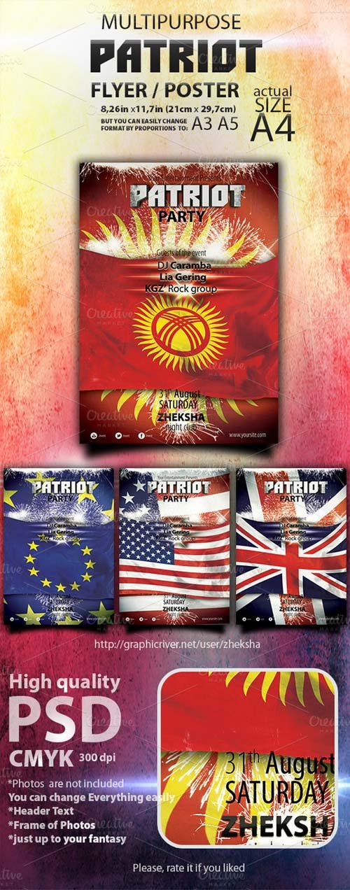 CreativeMarket Patriot Themed Template