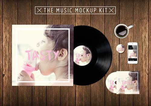 CreativeMarket The Music Kit Mockup