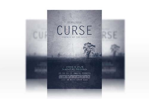 CreativeMarket The Curse Flyer Template