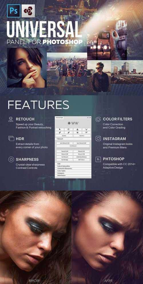 CreativeMarket Universal Photoshop Panel