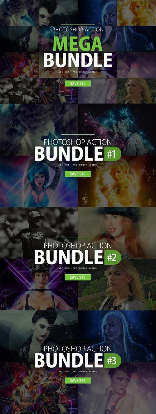 CreativeMarket Photoshop Action Mega Bundle