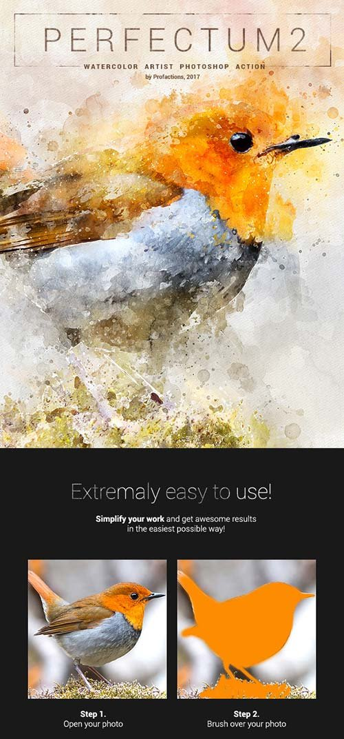 GraphicRiver Perfectum 2 - Watercolor Artist Photoshop Action