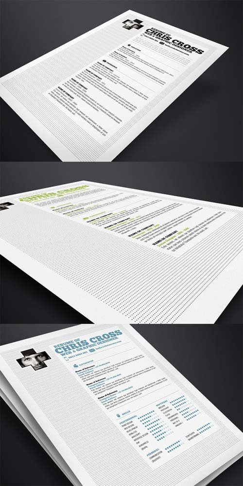 CreativeMarket Chris Cross Resume Template